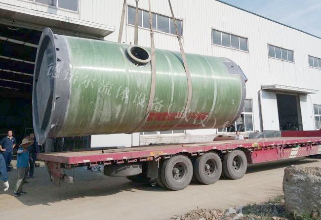 德诺尔-江陵县熊河镇玻璃钢一体化预制泵站项目