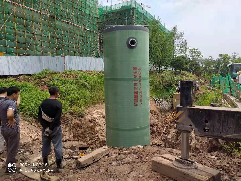 重庆一体化泵站安装现场